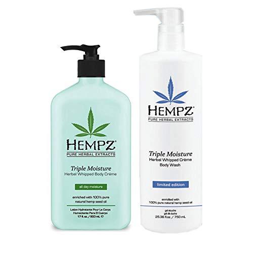 Hempz Triple Moisture Herbal Body Creme & Wash Set