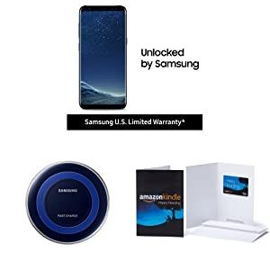 Samsung Galaxy S8 US Factory Unlocked Phone with Special Edition Qi Certified Fast Charge Wireless Charger and $100 Amazon Gift Card