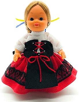 Amazon.es: Folk Artesanía Muñeca Regional colección de 15 cm con Vestido típico Vallisoletana (Valladolid) España.: Juguetes y juegos