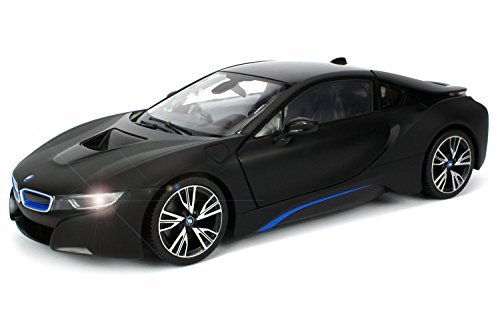 Officially Licensed BMW i8 Authentic w/Open Doors RC Vehicles Scale 1:14 by Rastar (Black) (Rc Car Working Lights compare prices)