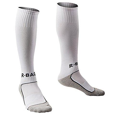 Halloween Experience Las Vegas (Compression Athletic Socks Knee High Sports Socks Team Athletic Performance Socks for Kids Boys White)