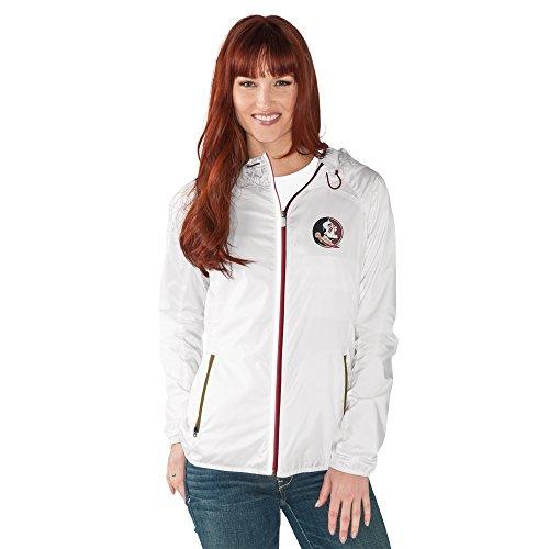 NCAA Damen Spring Training Leichtes Full Zip Jacke, Damen, G34Her Spring Training Light Weight Jacket, weiß, Large