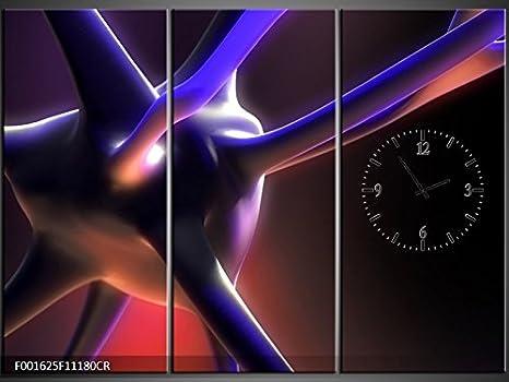 Orologi Da Parete In Tela : Tlg tela foto orologio da parete cervello cella quadro tela