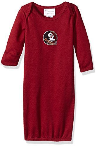 NCAA Florida State Seminoles Children Layette Gown, One Size, Crimson Layette Apparel