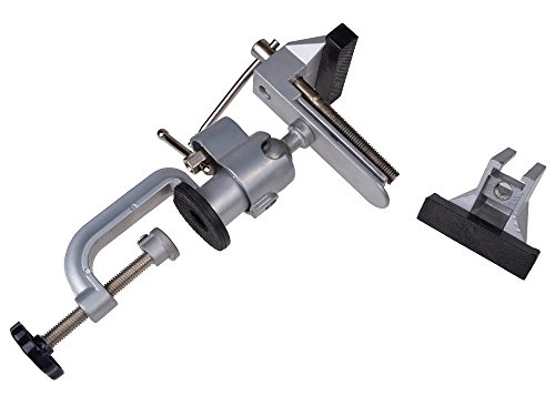 TMS Vises Bench 360° Swivel Vise 3'' Work Bench Clamp Tabletop Vise Rotating Jaw Head by TMS (Image #5)