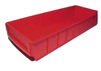 12 Stuck Industrieboxen 500x183x81mm Rot Stapelboxen Lagerbehalter