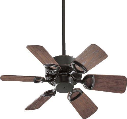 Quorum International 143306-95 Estate 6-Blade Patio Ceiling Fan with Walnut ABS Blades, 30-Inch, Old World - Quorum Patio Estate