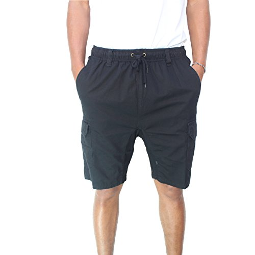 Burnside Mens Big Time Elastic Waist Short (Medium, Black)