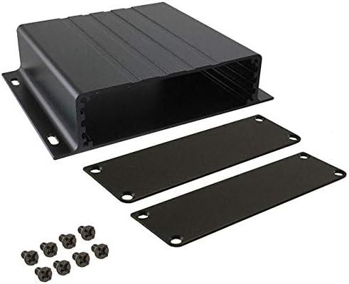 88mm x 46mm Black BUD Industries EXT9164 Extruded Aluminum Enclosure