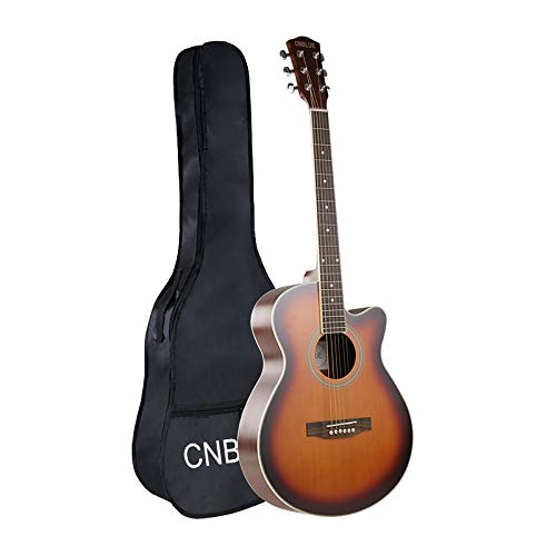 CNBLUE Acoustic Guitar 40 Inch Guitar Cutaway with Spruce Top (Sunset)