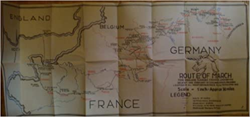 Map Of Germany Luxembourg Belgium.Map Germany Route Of March From England Through France