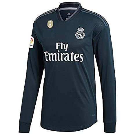 GOLDEN FASHION Non Real Madrid Away KIT 2018-19 Full Sleeve Jersey with  Short and 76eb128bc