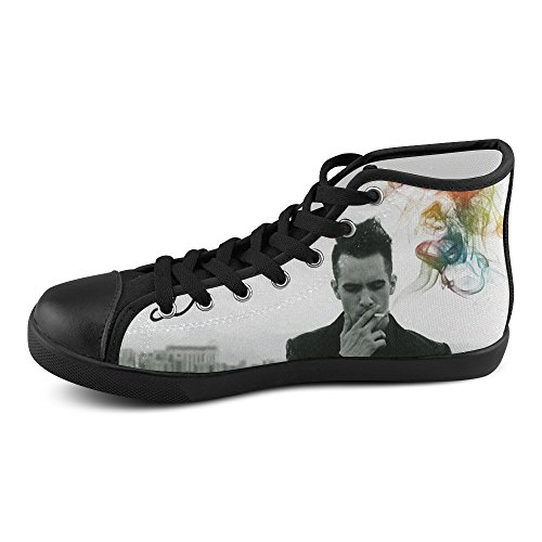 Show-shoes Custom Panic At The Disco High Top Lace-up Flats Canvas Shoes Soft Comfortable Sneakers for Adult Men (Model002) 9US (Mens Disco Shoes)