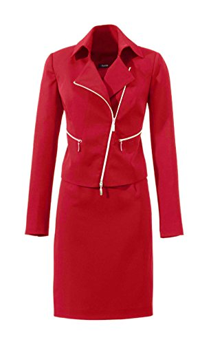 Kostüm Damen Rock + Blazer von Class Rot