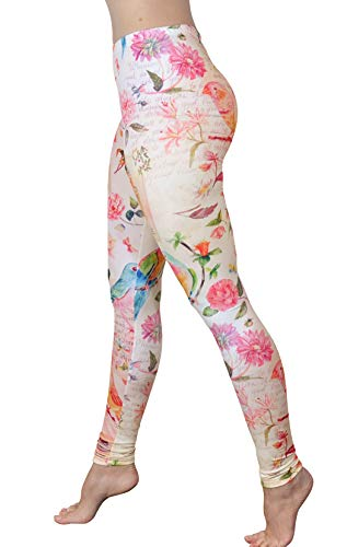Comfy Yoga Pants - Soft Milk Silk Workout Leggings for Women - Fun Lightweight Printed Yoga Leggings (Letters from Paris, US 0-12)