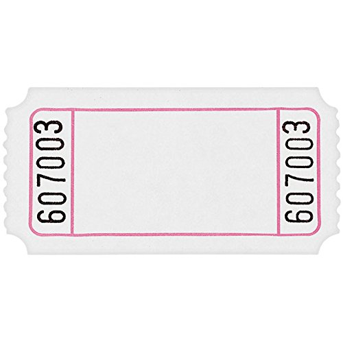 Amscan 341325 Fun-Filled Blank White Ticket Roll, 1
