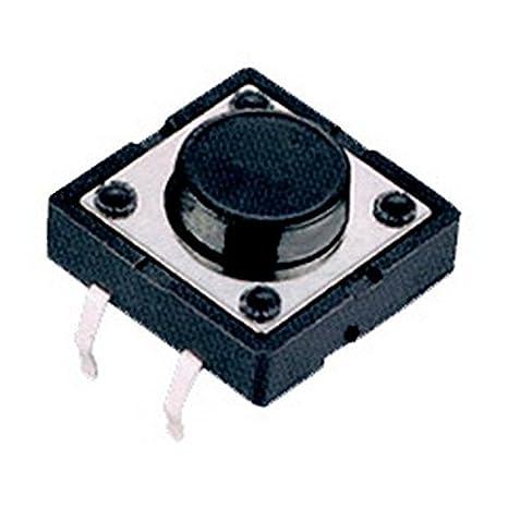 Electronics-Salon 20pcs 12 mm momentan/é bouton poussoir interrupteur Tact SW tactile
