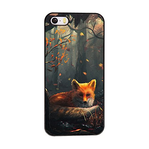 - Andenley Fox iPhone Case Animal Style Scratch-Resistant Anti-Slip Shockproof Soft TPU Rubber Bumper Protective Case Cover iPhone 5/5s/SE, 6/6s, 6P,7/8,7P/8P (iPhone 5/5s/SE)