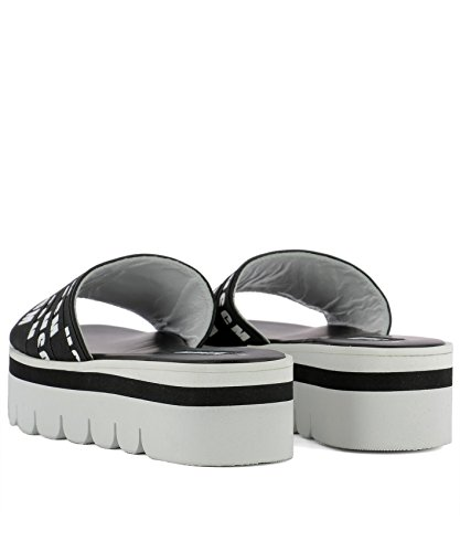MSGM Sandalias de Vestir Para Mujer Blanco/Negro It - Marke Größe