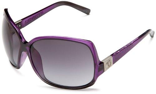 Electric Visual Lovette Purple Black Fade/Grey Gradient - Oversized Sunglasses 2010