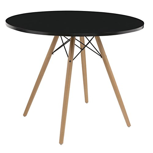 ings D118-10-40BLK-K Annette Dining Table, Standard, Black (Arm Chairs Round Leg Table)