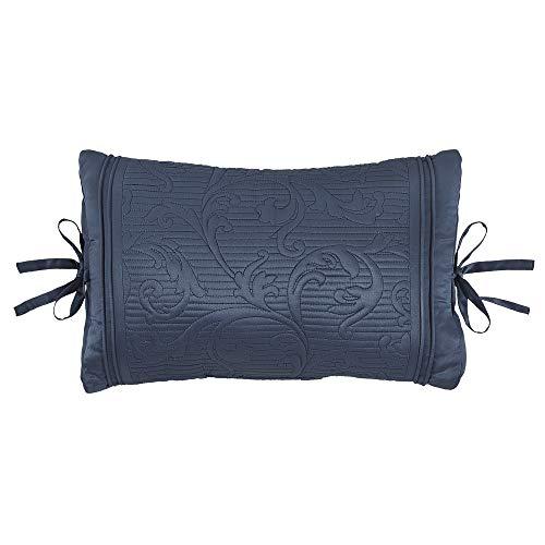 Croscill Cosette Boudoir Pillow, Dark Blue Croscill Blue Decorative Pillow