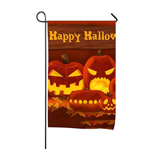 WilBstrn Halloween Party Garden Flag Outdoor Patio Seasonal -