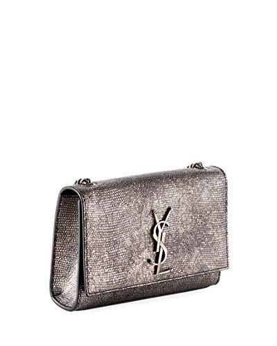 Saint Laurent Kate Monogram YSL Small Metallic Lizard-Print Crossbody Bag  Made in Italy  Handbags  Amazon.com 7d8d8bb5a14de