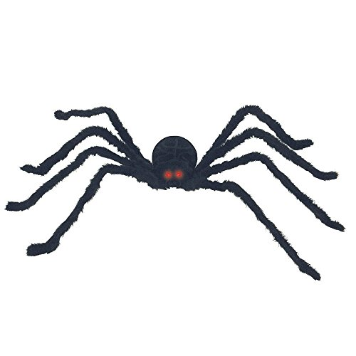 Seasons - Black Posable Spider with Light and - 50 Posable Inch Spider