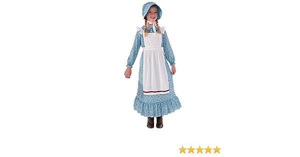 Laura Dress de 76235 pionera Traje Ingalls Wilder niña Prairie fgybY76
