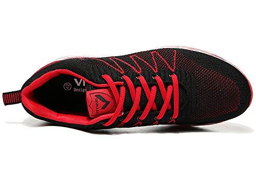 Uomo Basse 1 Casual Scarpe Sportive Sneakers da ASHION Interior Air Running rosso Fitness all'Aperto Corsa Ginnastica tqwzqU6R