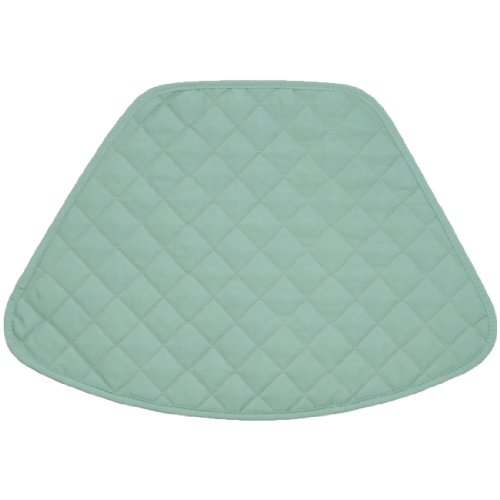 (Set of 2 Seafoam Green Quilted Wedge-Shaped Placemats for Round Tables)