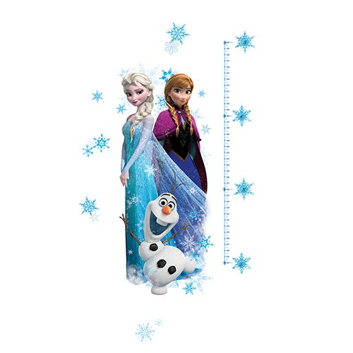 RoomMates RMK2793GC Elsa, Anna and Olaf Frozen Peel and Stick Giant Growth Chart