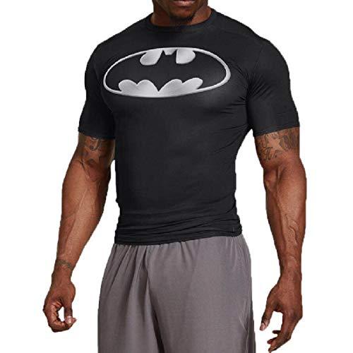 GYMGALA Bat t Shirt Short Sleeve Casual and Sports Compression Shirt (X-Large, White) -