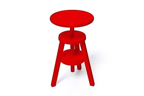 Abc meubles sgabello a vite s rosso amazon casa e cucina