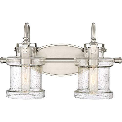 - Quoizel DNY8602BN Danbury Vanity Bath Lighting, 2-Light, 200 Watts, Brushed Nickel (10