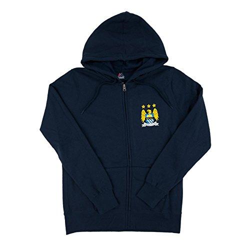 English Premiership womens Majestic Women's Soccer Manchester City Football Club official Logo Fleece Long Sleeve Full Zipper Hoodie – DiZiSports Store