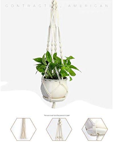 Kraeoke Pflanzenaufhänger, Makramee Blumenampel Baumwollseil Pflanzenhalter Blumenampel 105cm, 2er Set