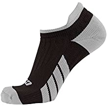 CSX Champion Low Cut Ankle Compression Socks, Silver on Black, X-Large