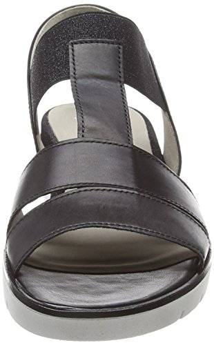 Sandals Strap Ankle Women's Gabor Black Basic Schwarz KqHOKUI