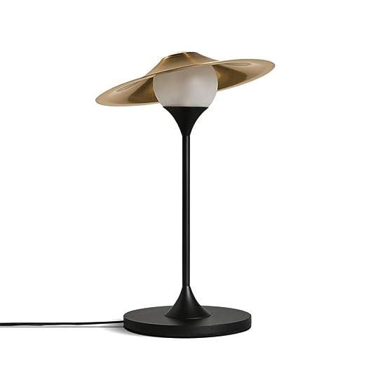 Lámpara de escritorio Mano cálida moderna Vidrio soplado Sombra ...