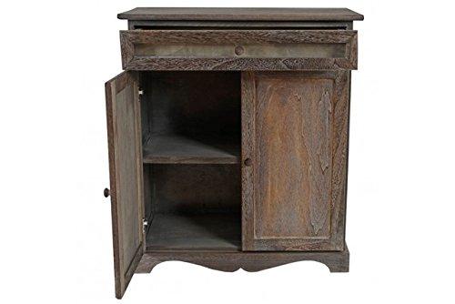Kommode-massivholz-braun-Vintage-Schaufenster-Anrichte-Schrank-Schaufenster-neu