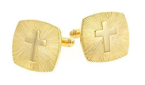 JJ Weston Religious Cross Cufflinks. Made in the -
