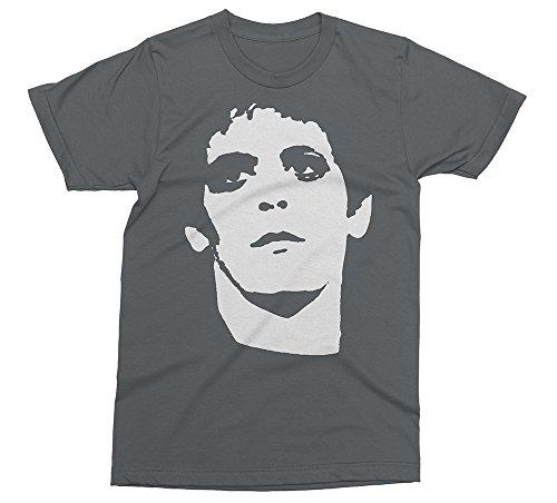 (Lou Reed - Punk Rock Velvet Underground Music T-Shirt [Color - Asphalt, Size - M])