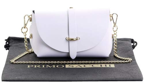 Italien nbsp;comprend Cuir Épaulement En Chaîne De Sacchi Sac Micro Blanc Bracelet Primo Marque Protecteur Le Petit Soirée Bandoulière Mini Métal Avec Xxwaq06BYv