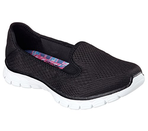 Skechers EZ Flex 3.0 Surround Sound Womens Slip On Sneakers Black/White