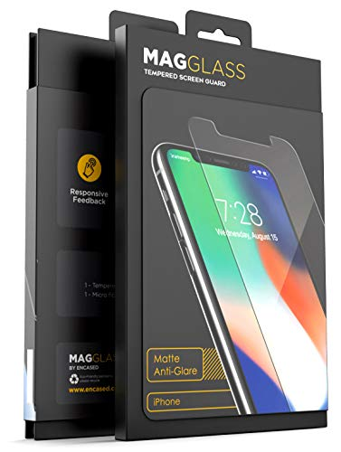 Magglass iPhone XR Matte Screen Protector (2018) Fingerprint Resistant Anti Glare Tempered Glass (Case Compatible Fit)