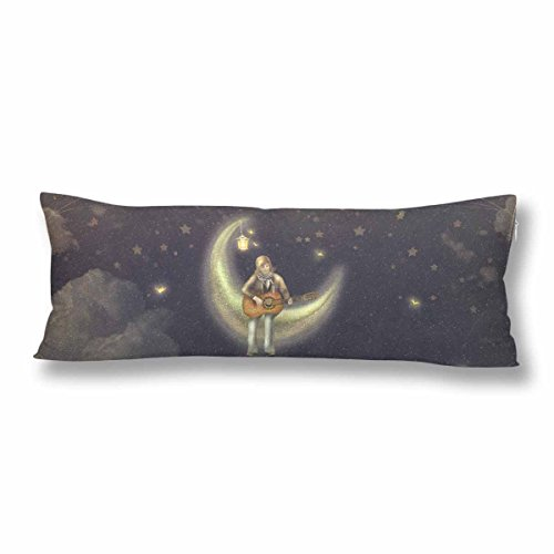 Silly Bodies - InterestPrint Custom Body Pillow Covers Pillowcase Moon Star Throw Pillows 21
