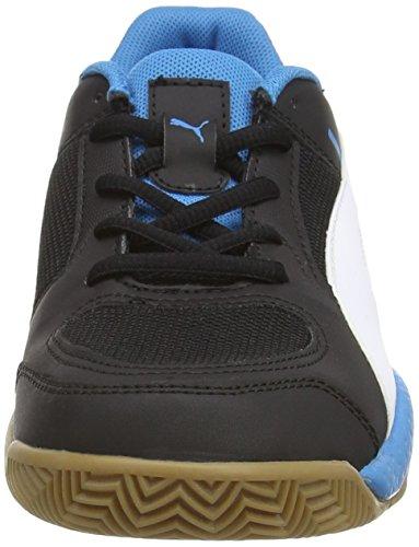 Puma Veloz Indoor II Jr - Zapatillas deportivas para interior de material sintético Niños^Niñas negro - Schwarz (black-white-cloisonné 01)