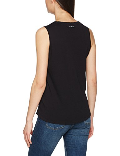The hip tee Acai, Camiseta sin Mangas para Mujer Negro (Hip Black)